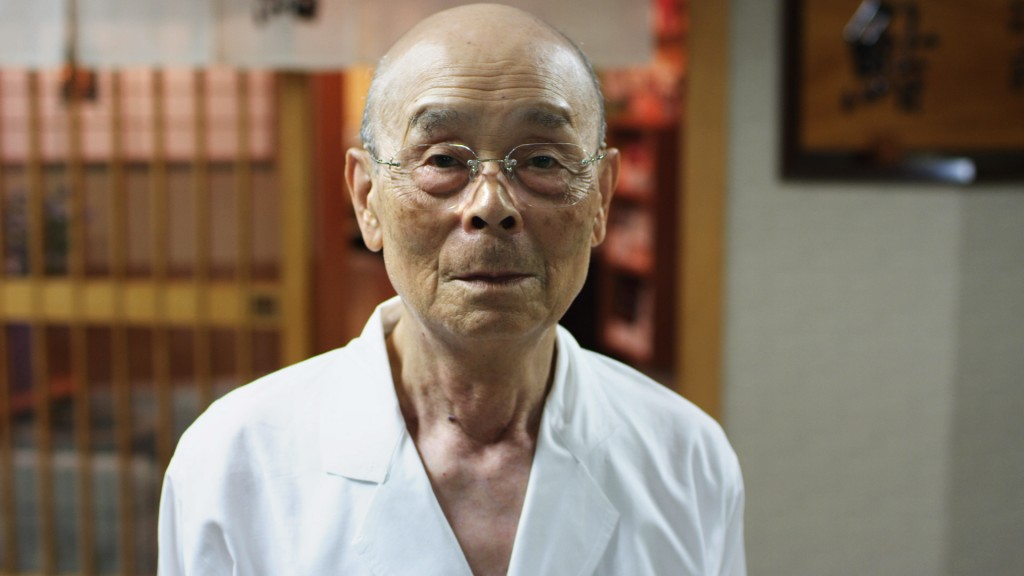 Jiro Ono in JIRO DREAMS OF SUSHI, a Magnolia Pictures release. Photo courtesy of Magnolia Pictures