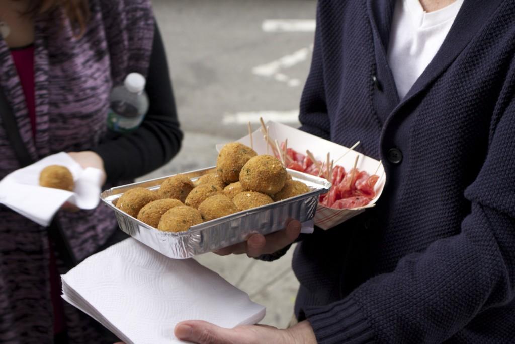 Reisbällchen mit Salami