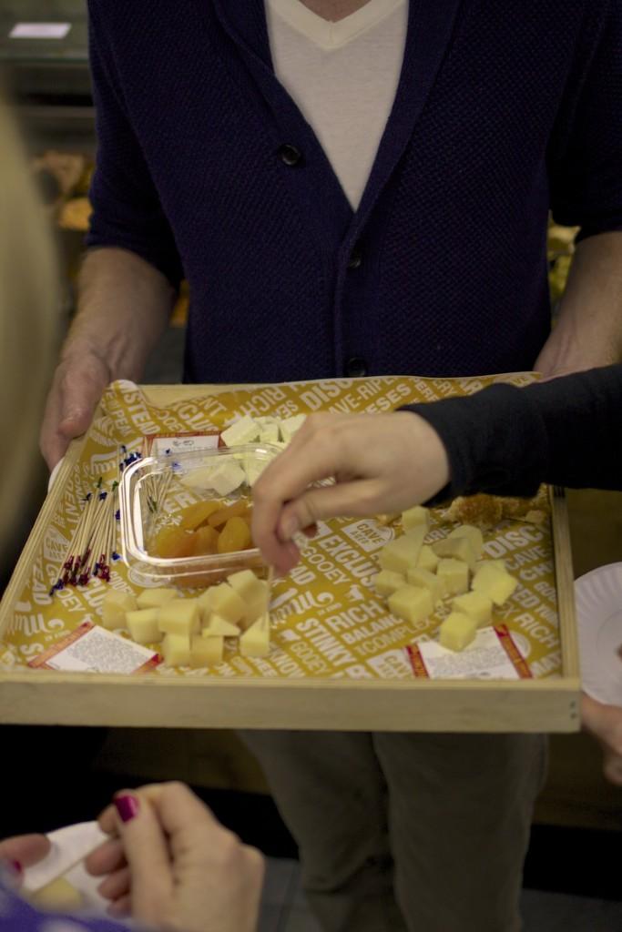 Tablett mit Käse